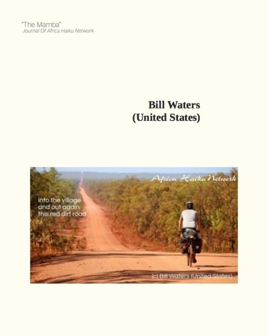 The Mamba: Issue 4, page 60. (Haiku by Bill Waters; Haiga by Africa Haiku Network.)