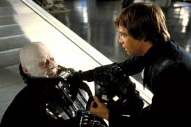 Luke Skywalker saves Darth Vader