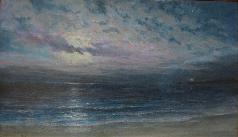 800px-'Moonlight_on_Ocean_(Kauai)'_by_Alfred_Richard_Gurrey,_Sr.,_c._1918,_Hawaii_State_Art_Museum
