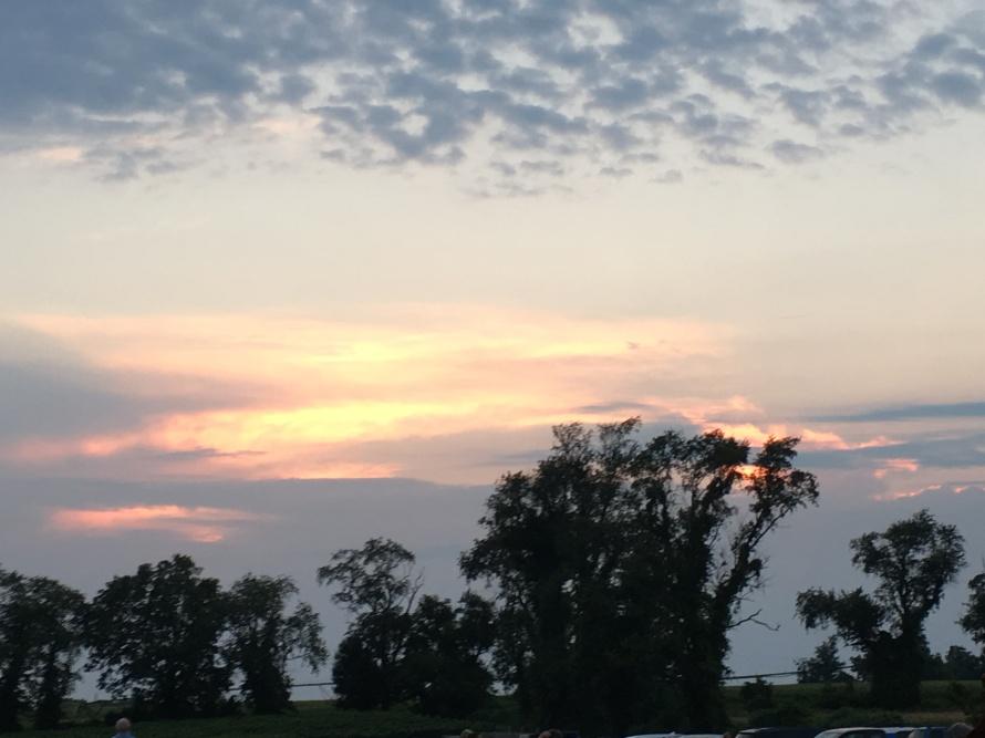 Sunset, Auburn Road Vineyards