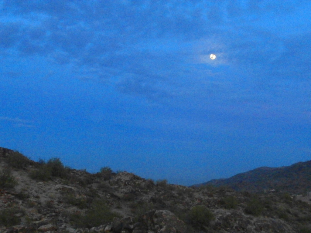 moon over South Mountain