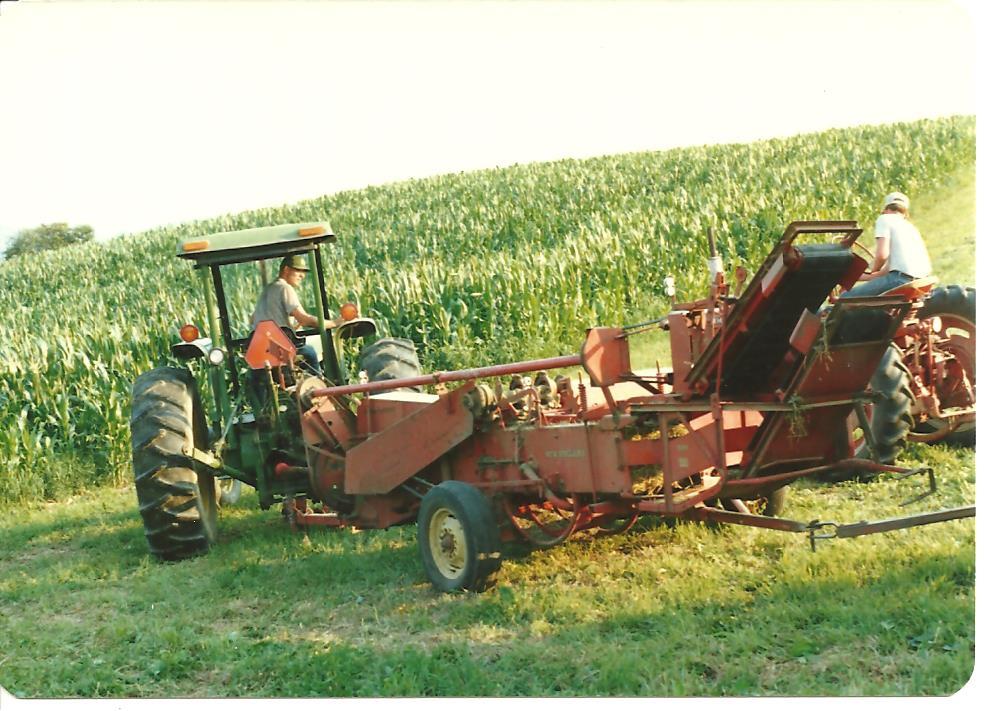 Farm - Uncle Fred bailing hay 001
