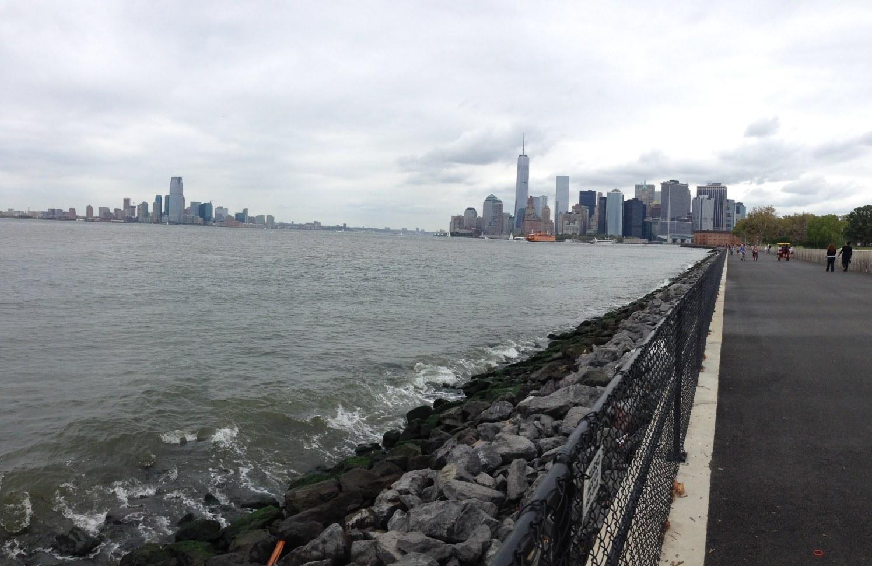 NY harbor via Governor's Island