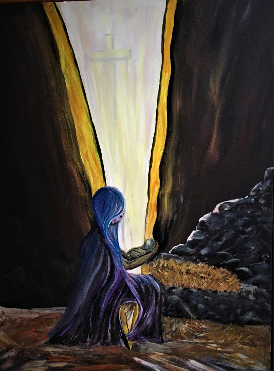 Advent Painting - Piercing the Darkness
