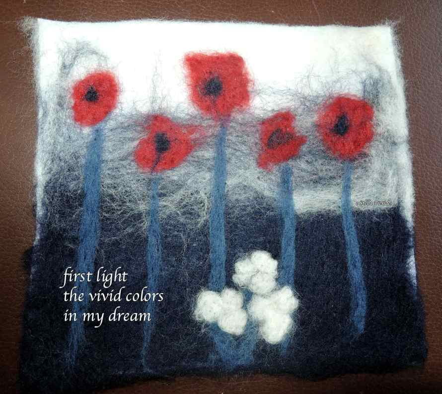 haikufelttings,felting,haiku,haiga,
