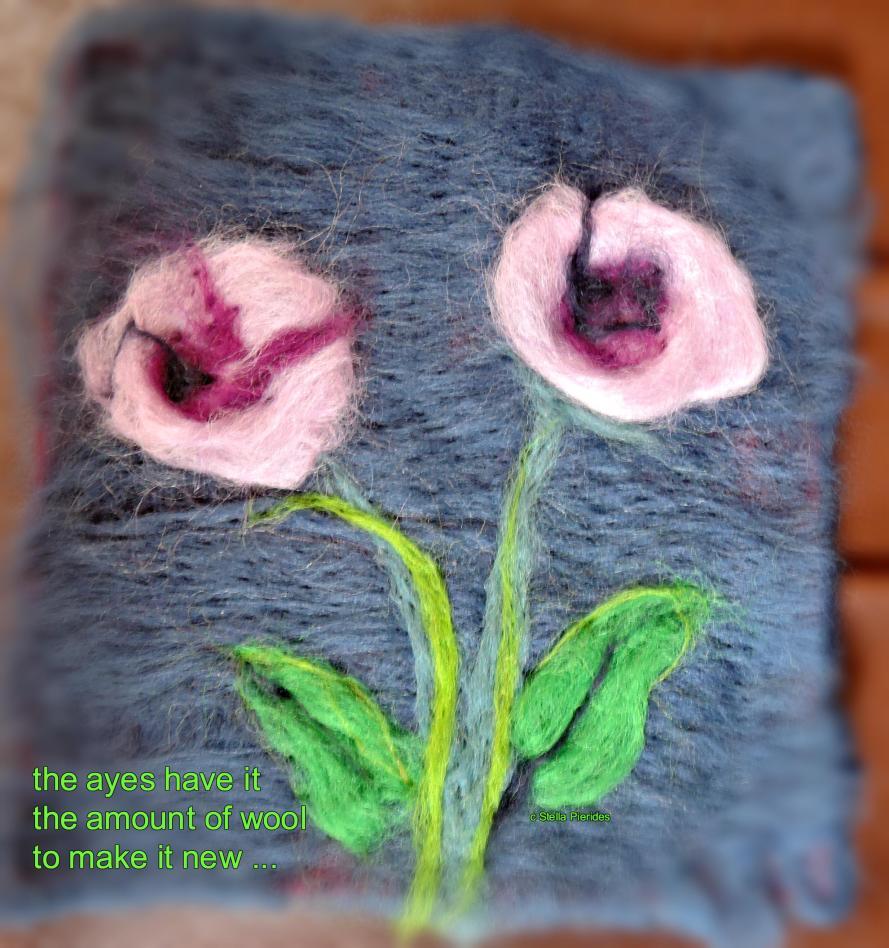 haiga,needle-felted image,